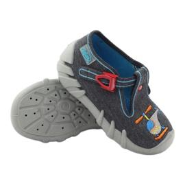 Befado kinderslippers 110p307 rood grijs oranje blauw 3