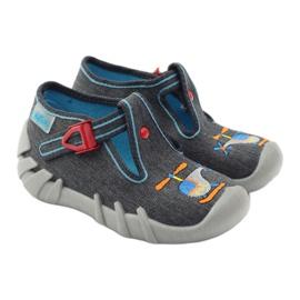 Befado kinderslippers 110p307 rood grijs oranje blauw 4