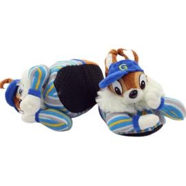 American Club Warme pantoffels dieren Amerikaanse eekhoorns blauw bruin 4
