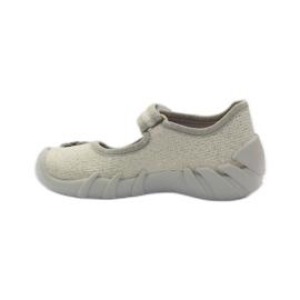 Befado kinderschoenen ballerina slippers 109p163 bruin grijs geel 2