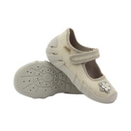 Befado kinderschoenen ballerina slippers 109p163 bruin grijs geel 3