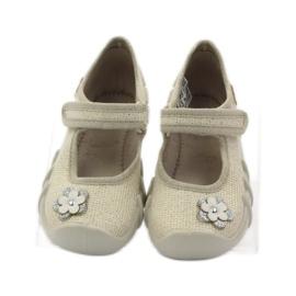 Befado kinderschoenen ballerina slippers 109p163 bruin grijs geel 4