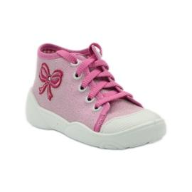 Befado kinderschoenen sneakers slippers 218p047 roze 1