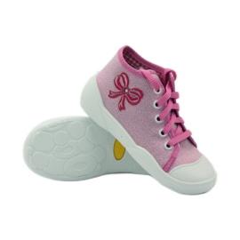 Befado kinderschoenen sneakers slippers 218p047 roze 3