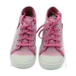 Befado kinderschoenen sneakers slippers 218p047 roze 4