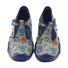 Jongenspantoffels van Befado 110p308 grijs blauw 4