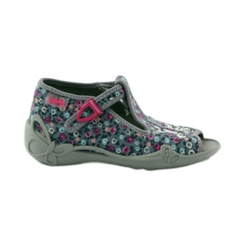 Slippers twee vrouwelijke Befado 213p099 grijs roze 1
