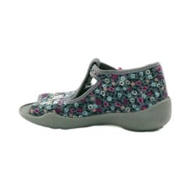 Slippers twee vrouwelijke Befado 213p099 grijs roze 3