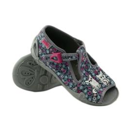 Slippers twee vrouwelijke Befado 213p099 grijs roze 4