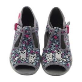 Slippers twee vrouwelijke Befado 213p099 grijs roze 5