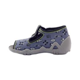 Slippers speeders Befado 217p092 groen grijs zwart wit 2