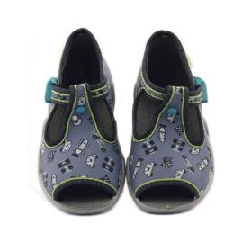 Slippers speeders Befado 217p092 groen grijs zwart wit 4