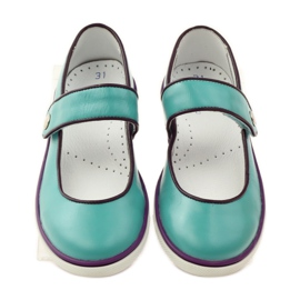 Ballerina's kinderschoenen Bartek 28368 turkoois groen purper wit 4