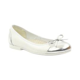 American Club Ballerina's schoenen met een Amerikaanse strik wit 1