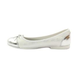 American Club Ballerina's schoenen met een Amerikaanse strik wit 2