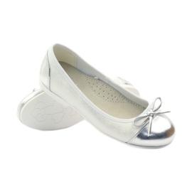American Club Ballerina's schoenen met een Amerikaanse strik wit 3