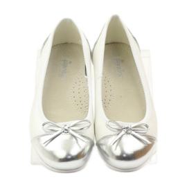 American Club Ballerina's schoenen met een Amerikaanse strik wit 4