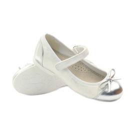 American Club Amerikaanse 14297 ballerinapompen grijs wit 3