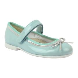 American Club Ballerina's schoenen met een Amerikaanse strik groen 1
