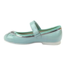 American Club Ballerina's schoenen met een Amerikaanse strik groen 2