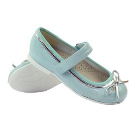 American Club Ballerina's schoenen met een Amerikaanse strik groen 3