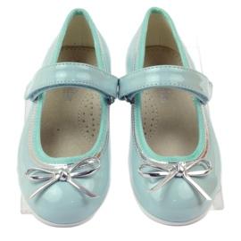 American Club Ballerina's schoenen met een Amerikaanse strik groen 4