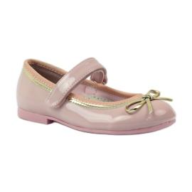 American Club Ballerina's schoenen met een Amerikaanse strik roze 1