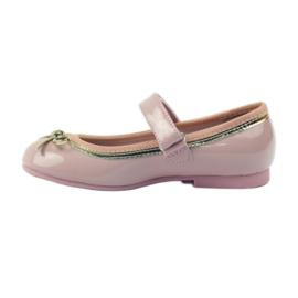 American Club Ballerina's schoenen met een Amerikaanse strik roze 2