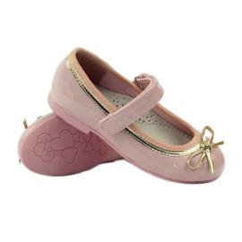American Club Ballerina's schoenen met een Amerikaanse strik roze 3