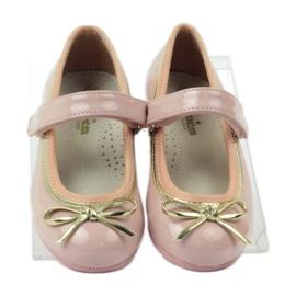American Club Ballerina's schoenen met een Amerikaanse strik roze 4