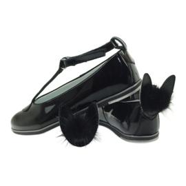 Ballerina's naar beneden met oren Bartek 45025 zwart 6