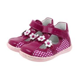 Ren But Gestippelde ballerina's met bloemen Ren 267 roze wit 3