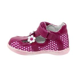Ren But Gestippelde ballerina's met bloemen Ren 267 roze wit 2