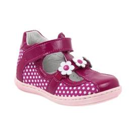 Ren But Gestippelde ballerina's met bloemen Ren 267 roze wit 1