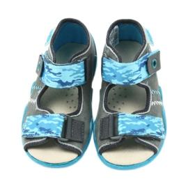Befado kinderschoenen sandalen met een lederen inzetstuk 350P062 blauw grijs 4