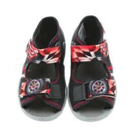 Befado kinderschoenen sandalen 250p055 slippers rood grijs 4