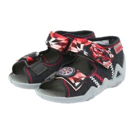 Befado kinderschoenen sandalen 250p055 slippers rood grijs 3
