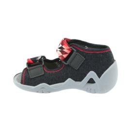 Befado kinderschoenen sandalen 250p055 slippers rood grijs 2