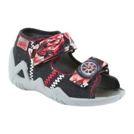 Befado kinderschoenen sandalen 250p055 slippers rood grijs 1