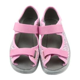 Befado kinderschoenen sandalen slippers 969x092 roze grijs 4