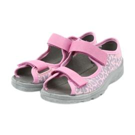 Befado kinderschoenen sandalen slippers 969x092 roze grijs 3