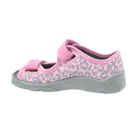 Befado kinderschoenen sandalen slippers 969x092 roze grijs 2