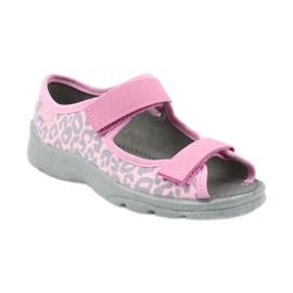 Befado kinderschoenen sandalen slippers 969x092 roze grijs 1