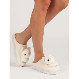 Comfortabele pantoffels bruin 2