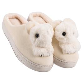 Comfortabele pantoffels bruin 3