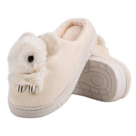 Comfortabele pantoffels bruin 4