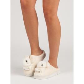Comfortabele pantoffels bruin 1