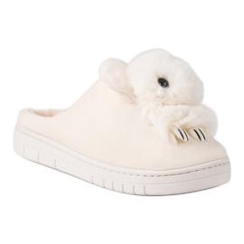 Comfortabele pantoffels bruin 6