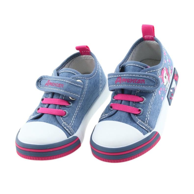 American Club Amerikaanse sneakers kinderschoenen met velcro inlegleer afbeelding 4