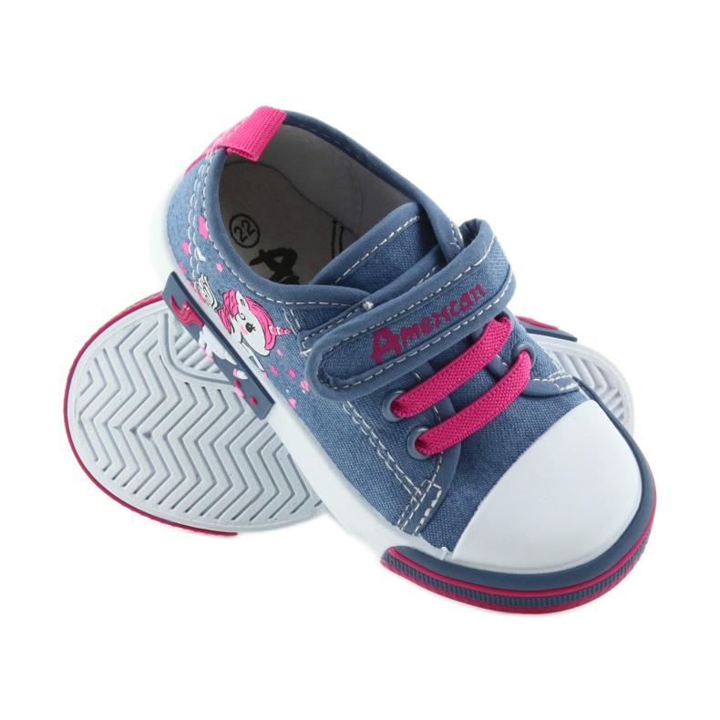 American Club Amerikaanse sneakers kinderschoenen met velcro inlegleer afbeelding 2